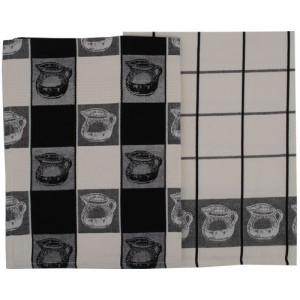 Jug Design Cotton Tea Towels Set of 2