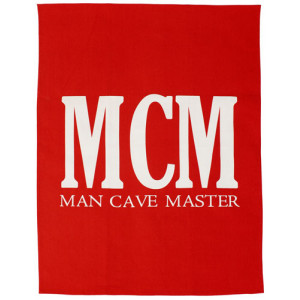 Man Cave Master Red Tea Towel