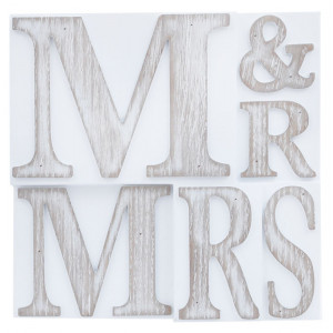 Mr And Mrs Printers Block Wall Plaque