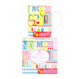 Ashdene Fine Bone China Tea or Coffee Mug Mums The Word Graphic Design