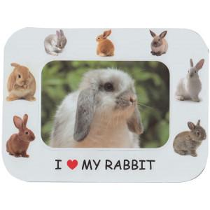 I Love My Rabbit Magnetic Photo Frame