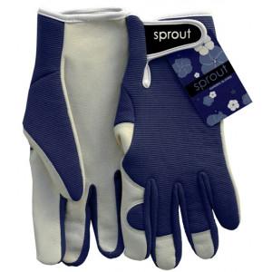 Sprout Ladies Gardening Gloves Navy Blue