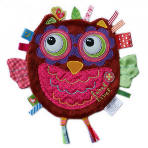Cute Girl Owl Baby Comforter For Small Hands by Label Label