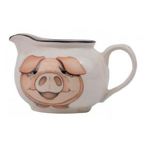 Pig Eathenware Creamer by Arthur Wood