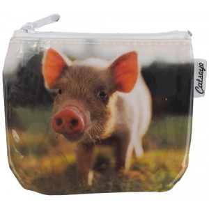 Pig Farm Animal Zip Purse