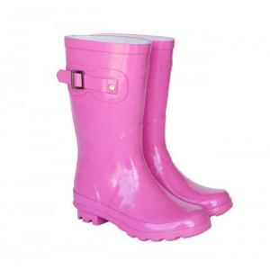 Pink Kids Childrens Skeanie Gumboots Wellies Rainboots