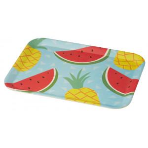 Tropicana Watermelon Pineapple Design Bamboo Fibre Rectangular Platter