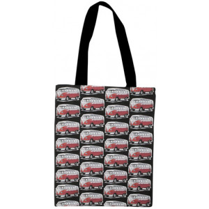 Shopping Carry Bag Red VW Kombi Camper Vans