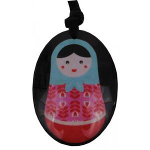 Babushka Matryoshka Russian Doll Resin Pendant