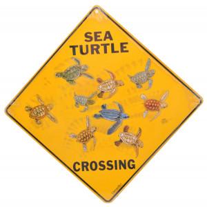Sea Turtle Crossing Road Sign