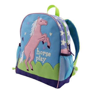 Horse Play Show Pony Childrens Kids Backpack Little Blue House