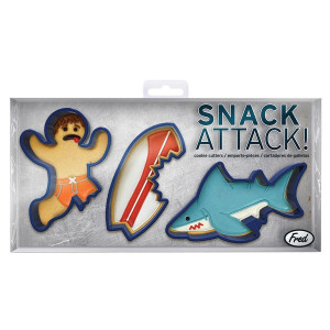 Fred Biscuit Cookie Cutters Snack Attack Shark Surfer Surfboard