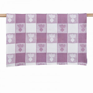 Baby Beets Beetroot Pattern 100% Waffle Cotton Tea Towel