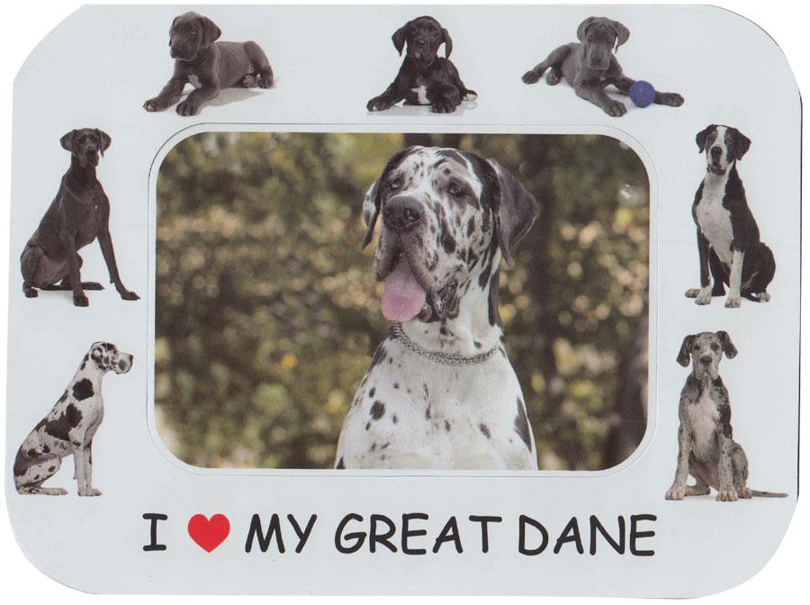 I Love My Great Dane Dog Magnetic Photo Frame