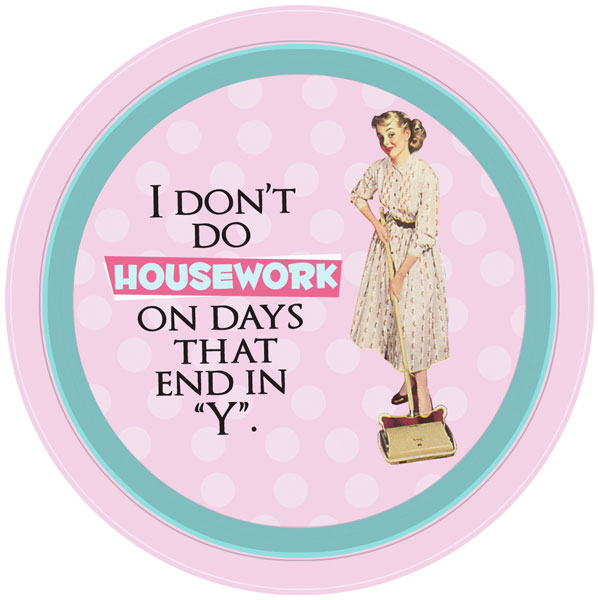 New I Don T Do Housework With Days That End In Y Retro Tin Kitchen