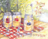 Candles in Jars and Dragonflies Greeting Card by Shelly Reeves Smith