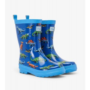 Friendly Dinosaur Shiny Kids Rainboots Gumboots By Hatley