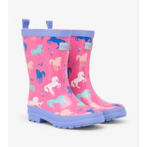 Painted Pasture Shiny Horse Kids Rainboots Gumboots By Hatley