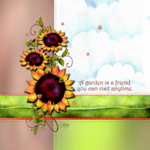 A Garden is A Friend You Can Visit Anytime Design Eyeglasses Cleaning Cloth