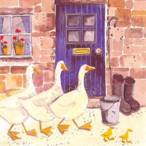 Geese Greeting Card by Alex Clark