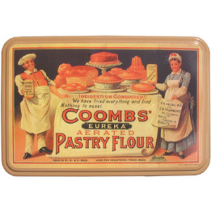 Coombs Pastry Flour Tin Nostalgic Reproduction Storage
