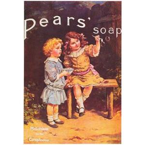 Pears Soap Girls & Bubbles Nostalgic Postcard