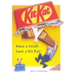Kit Kat Have A Break Nostalgic Postcard