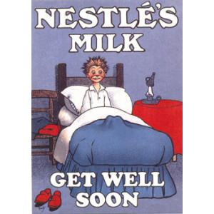 Nestles Milk Get Well Soon Nostalgic Postcard