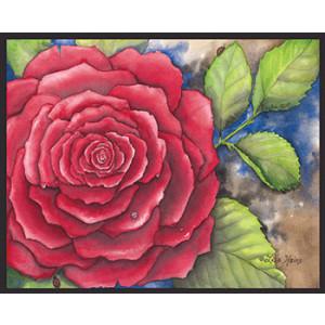 Red Rose & Ladybird 8 x 10 Print