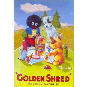 Golden Shred Golliwog Nostalgic Postcard