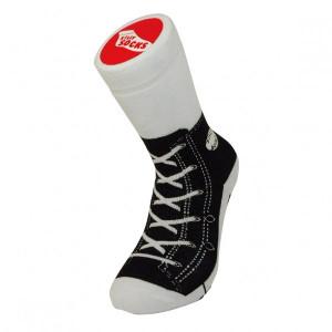 Unisex Black Sneaker Print Socks Adult Size 5-11