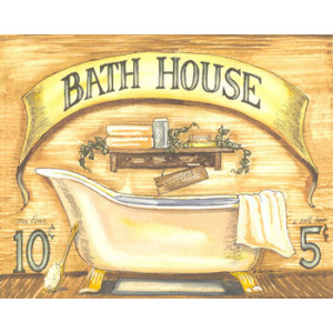 Bath House 8 x 10 Country Print