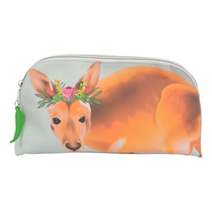 Ladies Makeup Cosmetic Travel Toiletry Bag Australian Kangaroo
