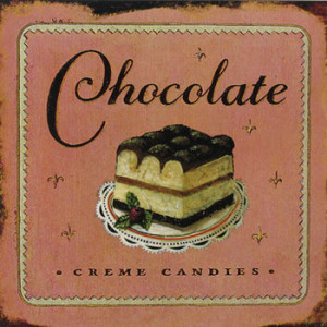 Chocolate Creme Candies Rustic Tin Sign