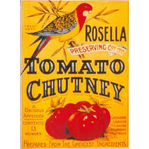 Rosella Tomato Chutney Nostalgic Postcard