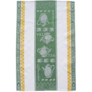 Tea and Coffee Jacquard Tea Towel