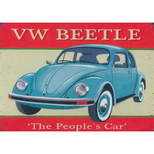 VW Beetle Car Greeting Card by Martin Wiscombe