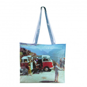 VW Volkswagen Kombi PVC Shopping Bag - Scenery