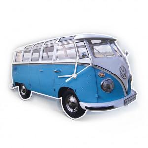VW Volkswagen T1 Kombi Van Wall Clock Classic Blue