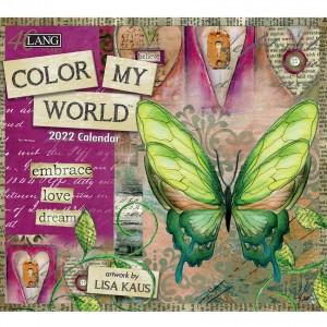Colour My World Lisa Kaus 2022 Lang Wall Calendar