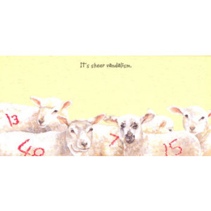 Graffiti Sheep Card