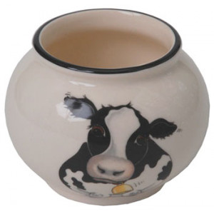 Cow Arthur Wood Sugar Bowl