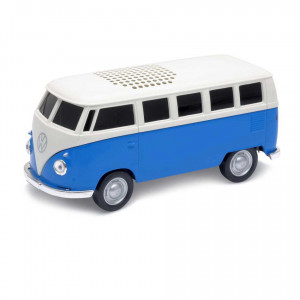VW Volkswagen T1 Bus Kombivan Die Cast Bluetooth Speaker Blue