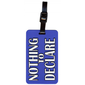 Nothing To Declare Suitcase Bag Luggage Tag