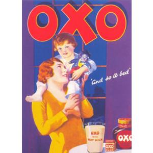 Oxo Lady Child & Golliwog Nostalgic Postcard