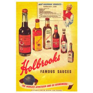 Holbrooks Famous Sauces Nostalgic Postcard