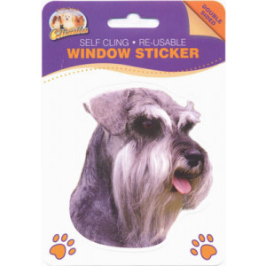 Schnauzer Dog Self Cling Re-usable Window Sticker