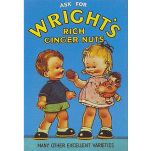 Wrights Ginger Nuts Nostalgic Postcard