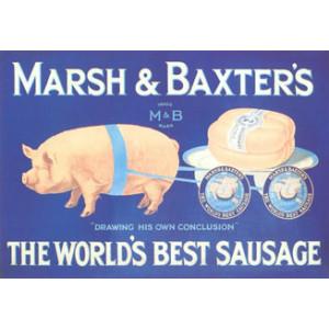 Marsh & Baxters Pig Nostalgic  Postcard