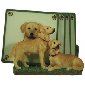 Labrador Dog Set of 4 Resin Drink Coasters